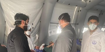 کمک رسانی دانشجویان بسیجی به بخش کرونایی بیمارستان مسلمین شیراز