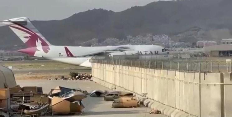 یک هواپیمای قطری در فرودگاه کابل بر زمین نشست