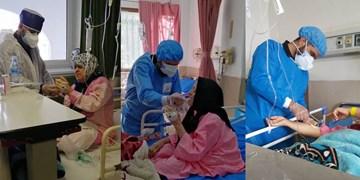 جهاد ادامه دارد؛ دیروز در دفاع از حرم، امروز در بیمارستان/ گزارش یک روز با جهادگران در بخش کرونا