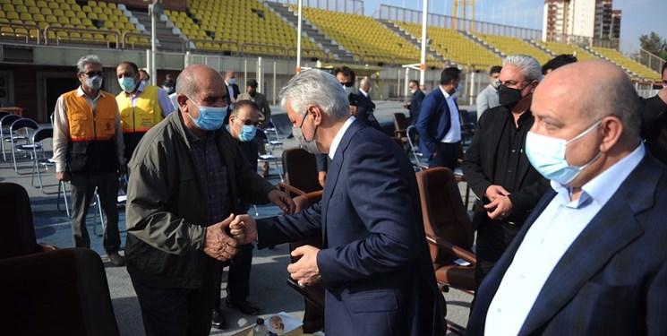 حاشیههای حضور سجادی در آفتاب انقلاب| شلیک وزیر در قلب دوومیدانی/حدادی بدون ماسک آمد
