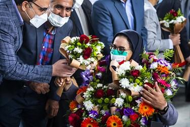 استقبال از زهرا نعمتی قهرمان پاراتیراندازی کشور