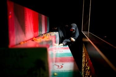 مراسم وداع با پیکر شهید مدافع حرم مرتضی کریمی  در معراج شهدا تهران