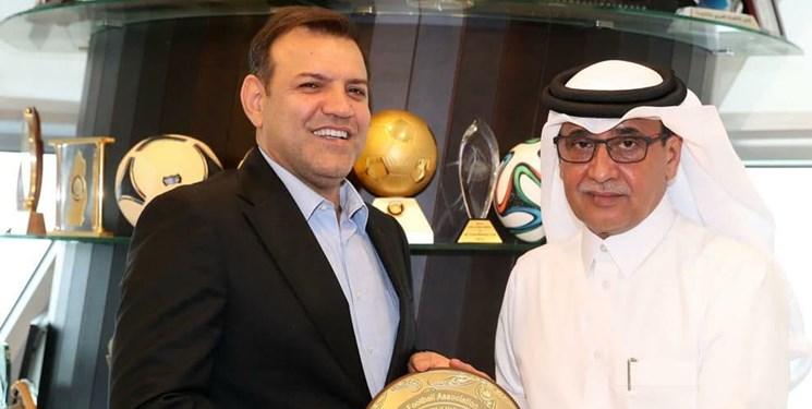 گفت و گوی عزیزی خادم با نایب رئیس فوتبال قطر؛  همکاری فدراسیون ایران با قطر در جام جهانی