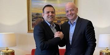 اینفانتینو میهمان دیدار ایران با عراق یا امارات در ورزشگاه آزادی