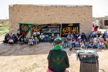 سخنرانی طلبه جهادگر برای کوکان  و خانواده هایشان