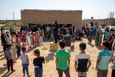 مراسم چهارپایه خوانی توسط جهادگران