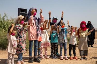 کودکان حاضر در مراسم چهارپایه خوانی