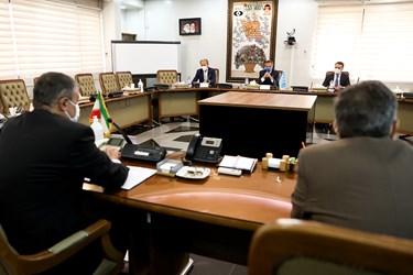 دیدار رافائل گروسی مدیرکل آژانس بینالمللی انرژی اتمی با محمد اسلامی رئیس سازمان انرژی اتمی