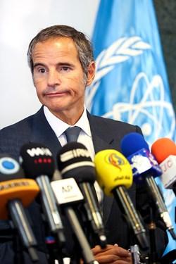رافائل گروسی مدیرکل آژانس بینالمللی انرژی اتمی در کنفرانس مشترک خبری با رئیس سازمان انرژی اتمی