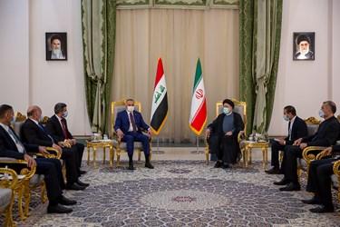 دیدار رسمی رئیس جمهور با نخست وزیر عراق