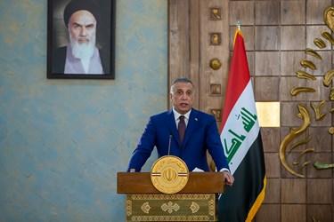 مصطفی الکاظمی نخست وزیر عراق در نشست خبری مشترک پس از دیدار با رئیس جمهور رئیسی