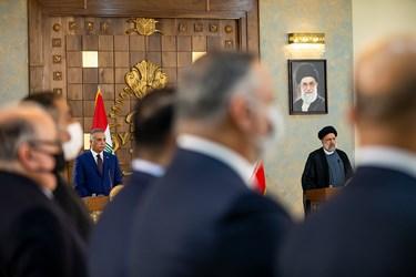 نشست خبری مشترک رئیس جمهور و نخست وزیر عراق