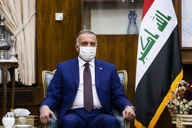 مصطفی الکاظمی نخست وزیر عراق در دیدار با محمد مخبر معاون اول رئیس جمهور