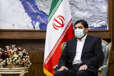 محمد مخبر معاون اول رئیس جمهور در دیدار با مصطفی الکاظمی نخست وزیر عراق