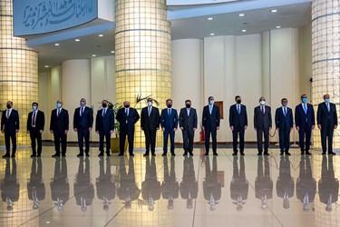 هیئت دیپلماتیک نخست وزیر عراق در مراسم استقبال رسمی رئیس جمهور از نخست وزیر عراق