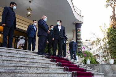محمد مخبر معاون اول رئیس جمهور و  ایرج مسجدی سفیر جمهوری اسلامی ایران در عراق