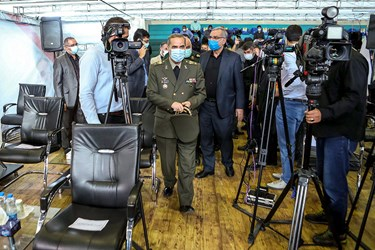 امیر سرتیپ محمدرضا آشتیانی وزیر دفاع در مراسم آغاز فاز سوم کارآزمایی بالینی واکسن فخرا