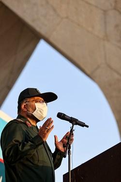 سخنرانی سردار غلامرضا سلیمانی رئیس سازمان بسیج مستضعفین در رزمایش بزرگ طرح شهید حاج قاسم سلیمانی