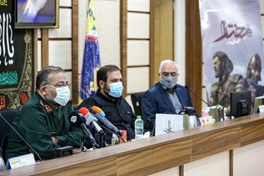سردار سلیمانی رئیس سازمان بسیج مستضعفین در مراسم رونمایی از بازی «مختار؛ فصل قیام»