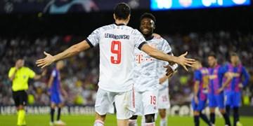 لیگ قهرمانان اروپا| بایرن دوباره بارسا را تحقیر کرد/ باخت یاران آزمون مقابل قهرمان اروپا
