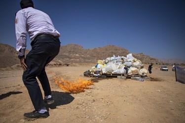 ۴ تن مواد مخدر در پارک کوهستان سمنان و در فضای گسترده امحا شد