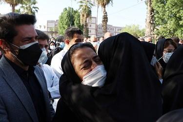 مراسم تشییع شهید مدافع سلامت در اهواز