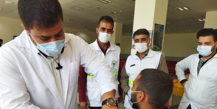 انجام واکسیناسیون سربازان فرماندهی انتظامی کهگیلویه و بویراحمد