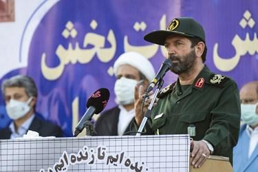 سخنرانی سردار حسن حسنزاده در رزمایش حیاتبخش مقابله با کرونا