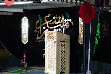 شعر خوانی سارا خلیفه از زرقان در سی و ششمین شب شعر عاشورایی / آستان مقدس حضرت علی ابن حمزه (ع) شیراز