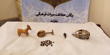 کشف و ضبط سکههای تاریخی در شازند