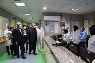 بخش ویژه بیمارستان گلستان که مختص بستری بیماران کرونایی است