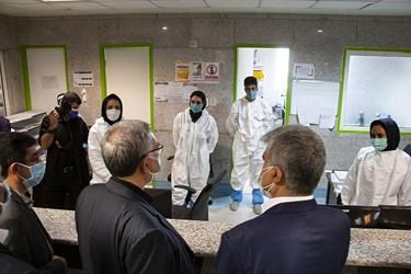 بازدید وزیر بهداشت از بیمارستان گلستان