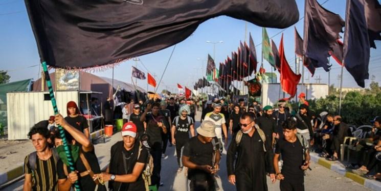 حرکت بزرگترین کاروان عراقی پیادهروی اربعین به سوی کربلا+فیلم