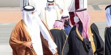 عکسی متفاوت از دیدار سران قطر، عربستان سعودی و امارات