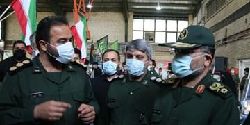 بازدید فرمانده کل بسیج از مرکز واکسیناسیون مدرس شهرری
