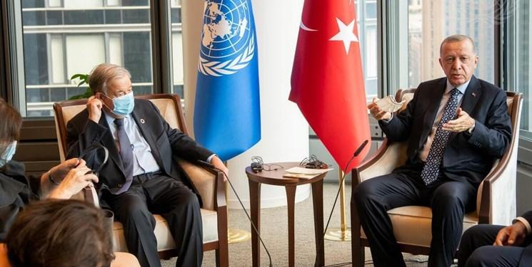 اردوغان و گوترش درباره سوریه و افغانستان رایزنی کردند