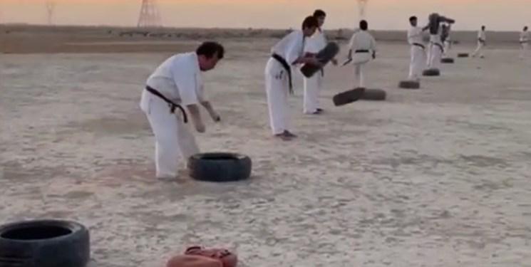 تمرین رزمیکاران لیگ برتری در بیابانهای ماهشهر