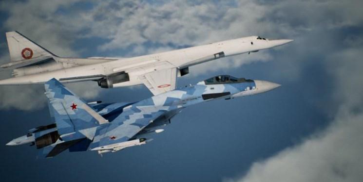اسکورت بمبافکنهای اتمی روسیه توسط جنگندههای پیشرفته ناتو