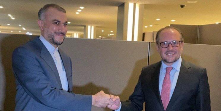وزیر خارجه اتریش در دیدار با امیرعبداللهیان: هیچ سقفی برای ارتقای روابط با ایران قائل نیستیم
