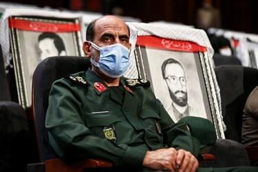 سردار محمدحسین سپهر جانشین سازمان بسیج مستضعفین در سومین همایش «یادها و نامها»