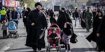 پیادهروی حرم تا حرم جاماندگان اربعین در غرب تهران