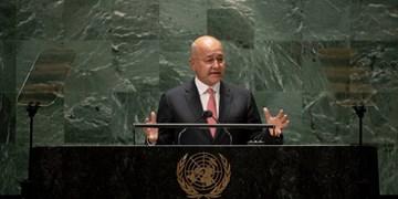 برهم صالح: بدون احقاق کامل حقوق ملت فلسطین، هیچ صلحی در منطقه برقرار نخواهد شد