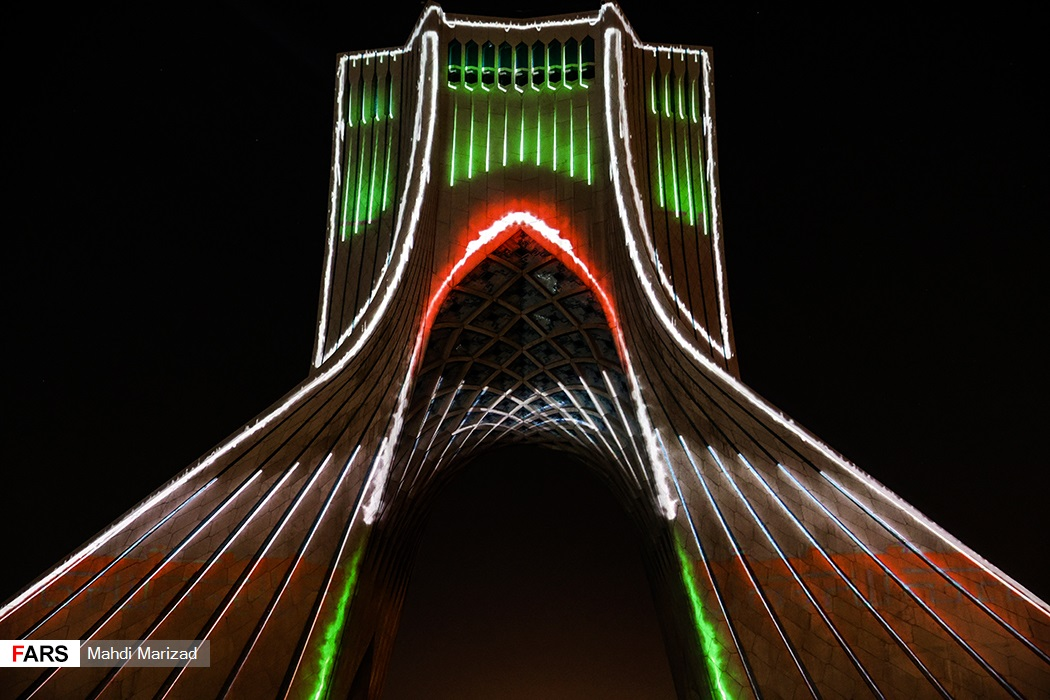 ویدئو مپینگ برج آزادی به مناسبت هفته دفاع مقدس