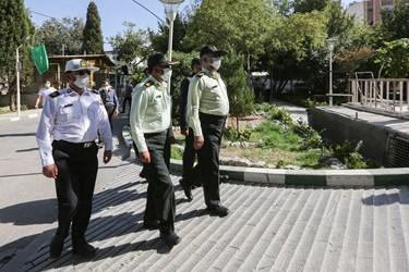 حضور سردار میرحیدری فرمانده انتظامی استان اصفهان در بیمارستان سوانح سوختگی