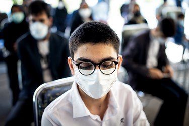 دانش آموزان نابینا  در مدرسه ویژه نابینایان شهید محبی تهران