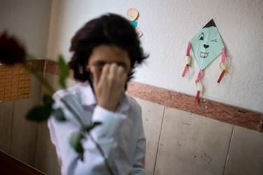 دانش آموزان نابینا  د رکلاس های درسی  در مدرسه ویژه نابینایان شهید محبی تهران