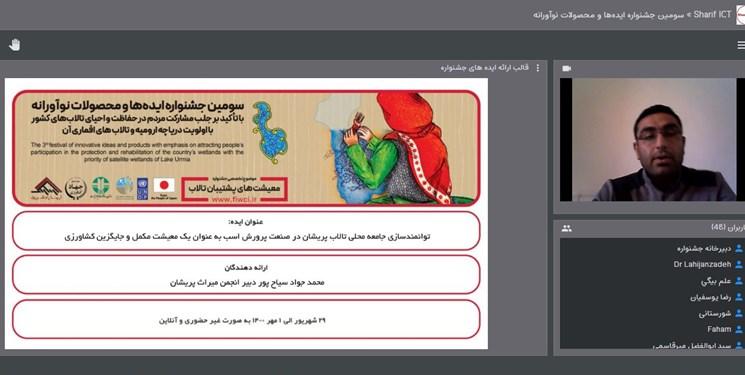 از برگزیدگان سومین جشنواره ایدهها و محصولات نوآورانه طرح حفاظت از تالابهای ایران  تقدیر شد