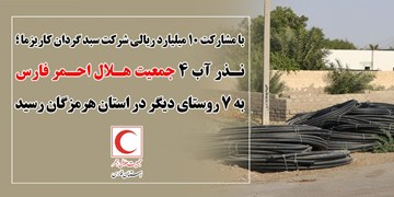 اجرای فاز دوم نذر آب ۴ جمعیت هلال احمر فارس در هرمزگان