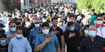 پیادهروی جاماندگان اربعین حسینی در شهر بهارستان جم