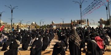 تجمع سوگواران اربعین حسینی در همدان